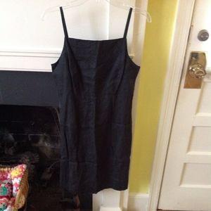 Vintage GAP Strappy Linen Black Sundress - Size 6
